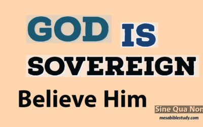 God Is Sovereign Believe What He Says