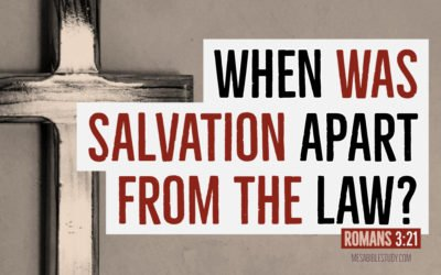 When Was Salvation Apart from the Mosaic Law?