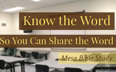 Free Six Week Bible Study Class in Tempe Arizona Covering the Plan of Redemption