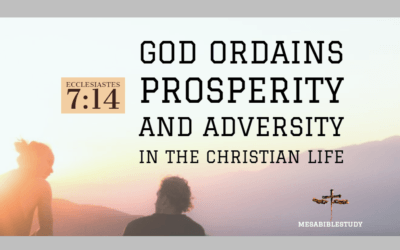 "God Ordains Prosperity and Adversity in the Christian Life ""Rejoice"""