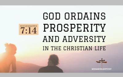 "God Ordains Prosperity and Adversity in the Christian Life ""Rejoice"""