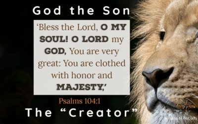 """The Glory and Majesty of the Creator, God the Son """"Jesus Christ"""""""