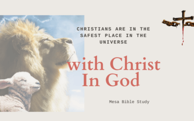'No Fear' Christians are In the Safest Place in the Universe 'Hidden with Christ in God'